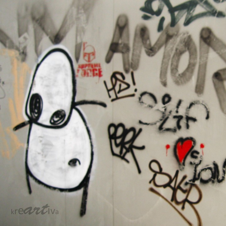 clumsy stickman, Amsterdam Netherlands 2007.
