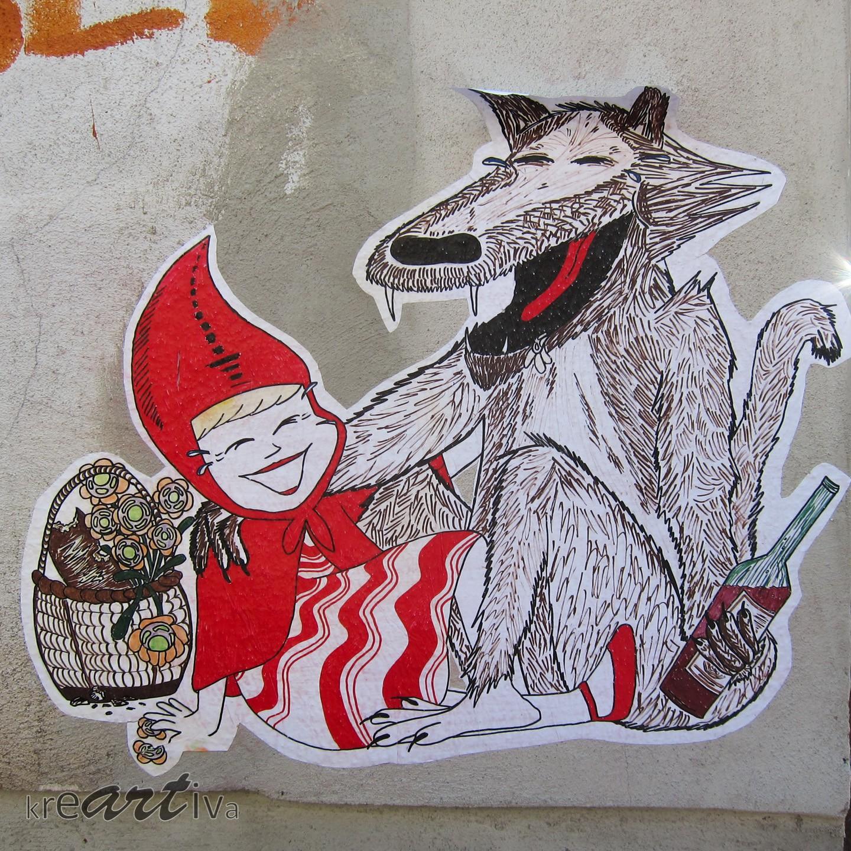 Rotkäppchen feat. böser Wolf, Dresden Deutschland 2014.
