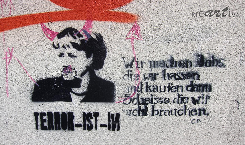 Ist Terror in? Dresden Deutschland 2014.