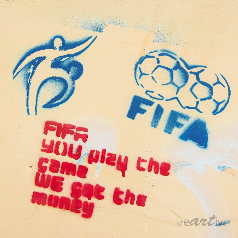 FIFA – You play the game we get the money, 2013 Erlangen Deutschland.