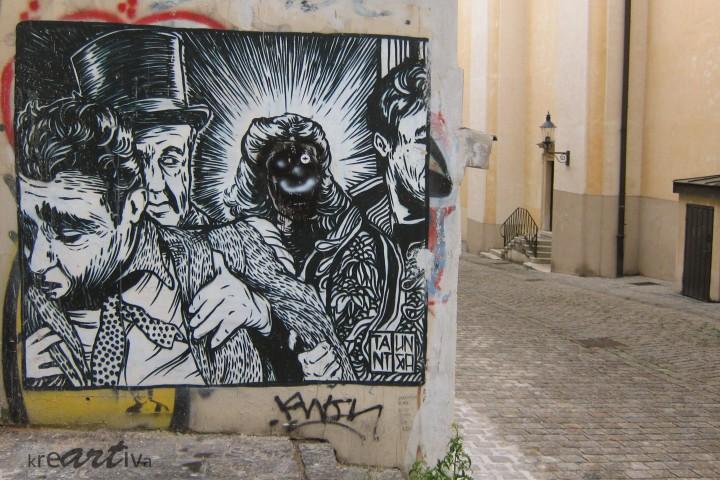 Schwarzweiß-Szene, Wien Österreich 2014.