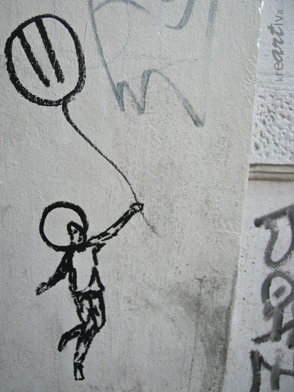 Die mit dem Ballon tanzt, Berlin Deutschland 2011.