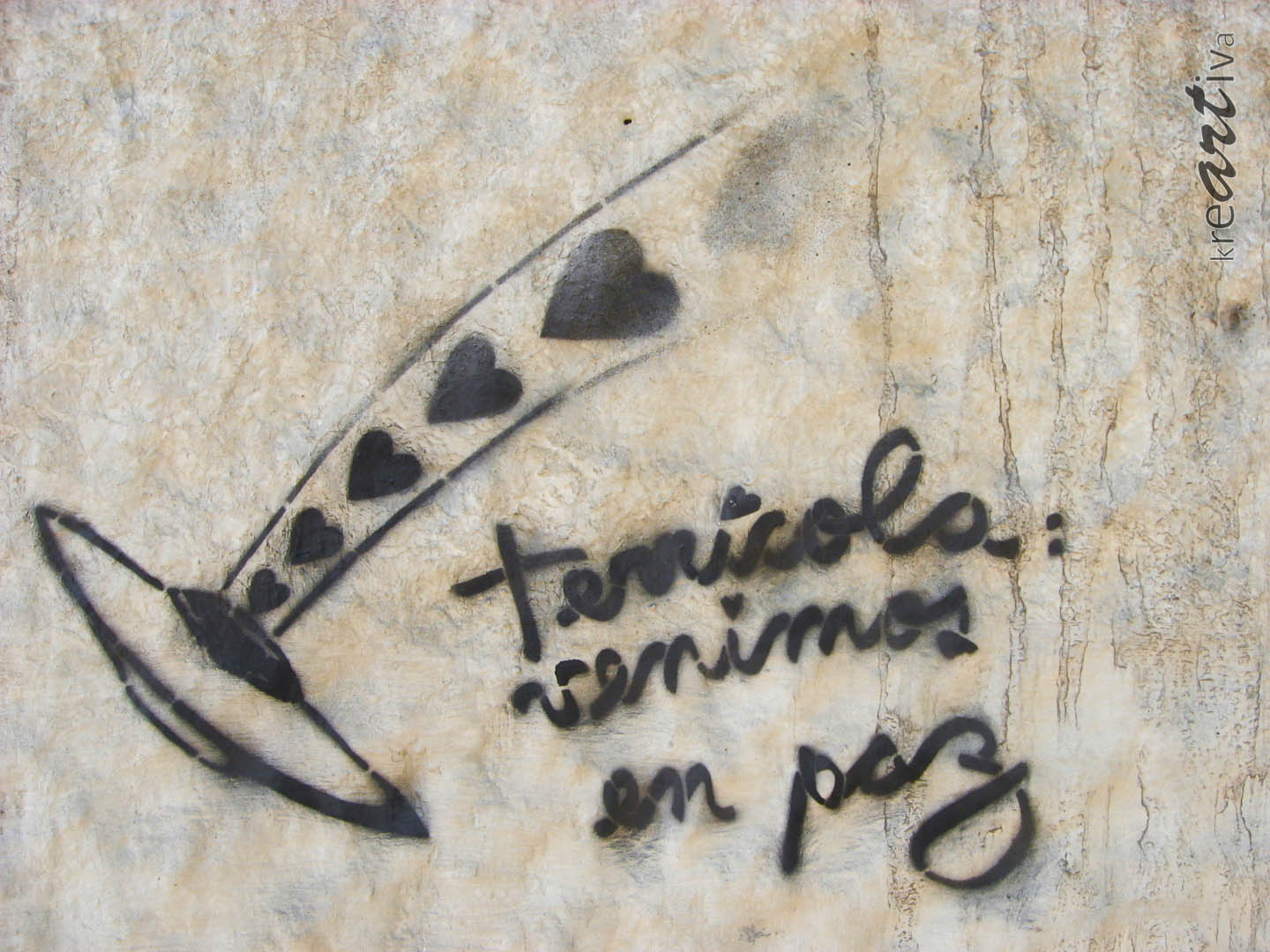 Erdlinge, wir kommen in Frieden! Terrestrials, we come in peace! Terricola: venimos en paz! Santiago Chile 2009
