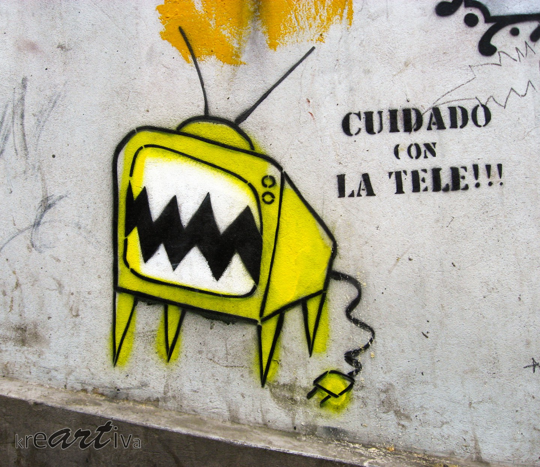 Cuidado con la tele!!! Valparaíso, Chile 2009.