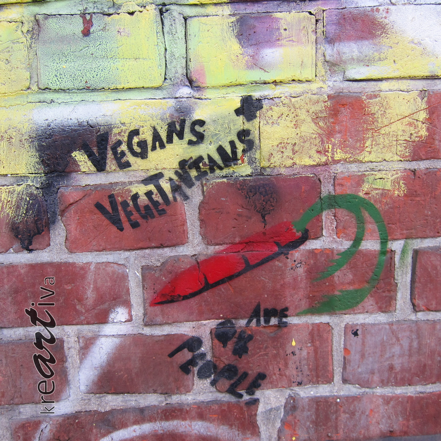 Vegans and Vegetarians are OK people, Hannover Deutschland 2015