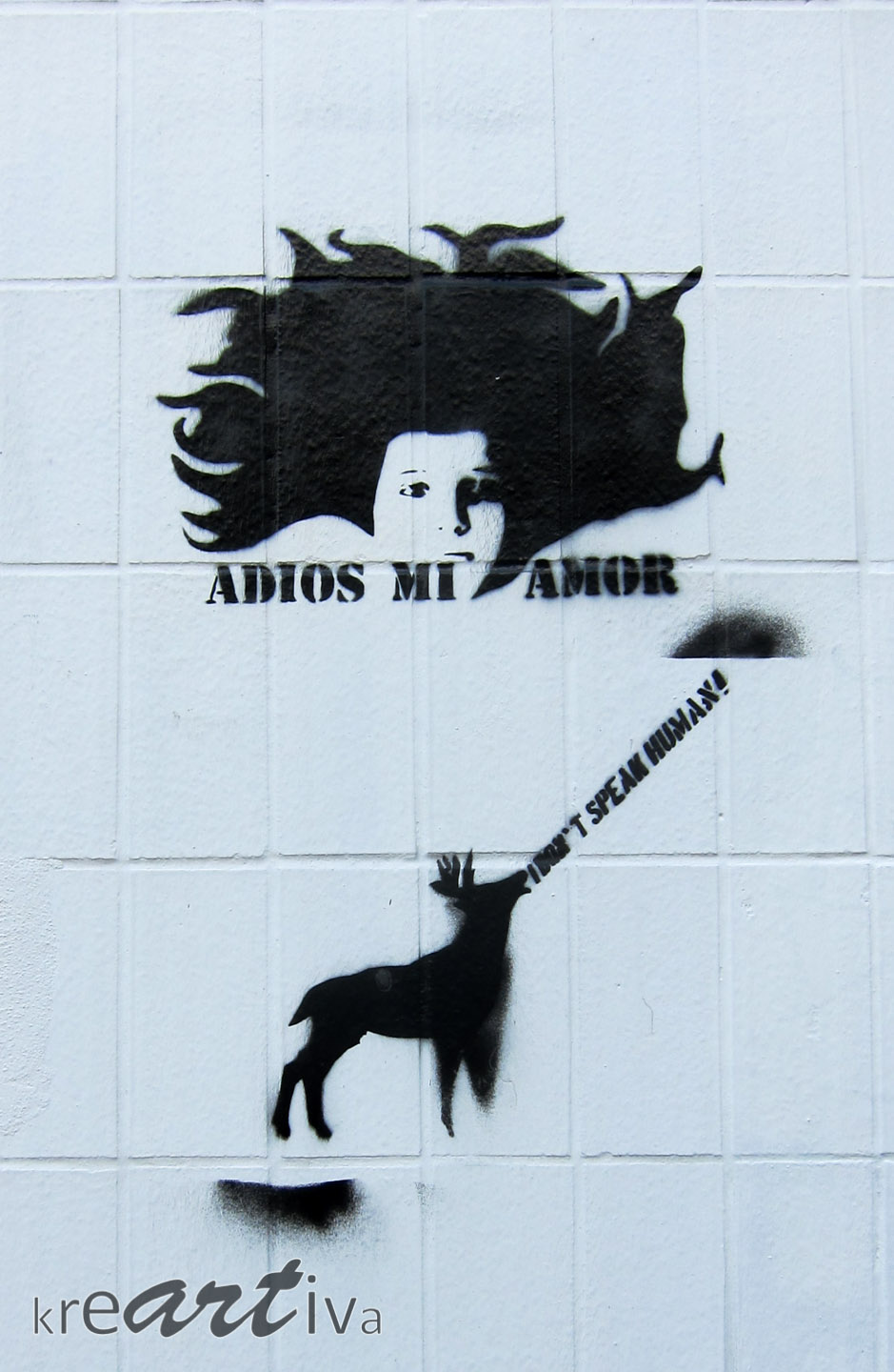 I don't speak human, mi amor. Leipzig Deutschland 2015
