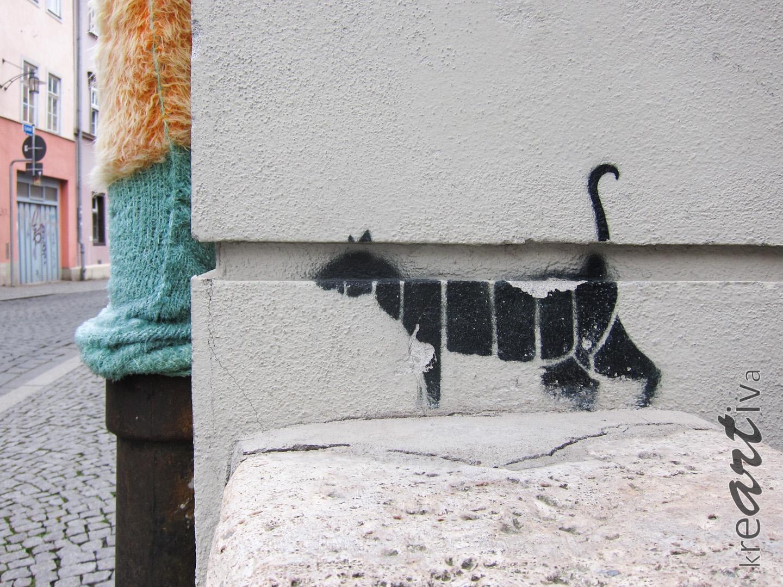 Katze in Weimar, Deutschland 2015