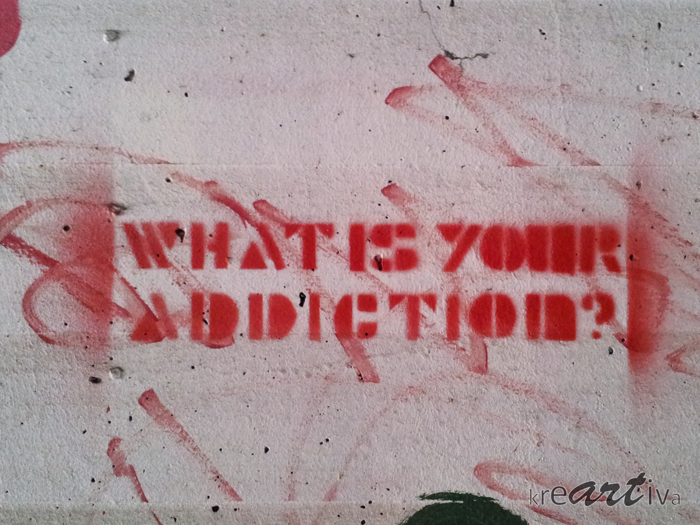 Bild: What's your addiction? Erlangen Deutschland 2014.