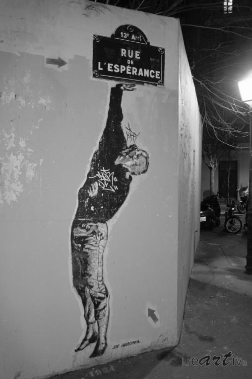 Rue de l'espérance. Paris Frankreich 2013