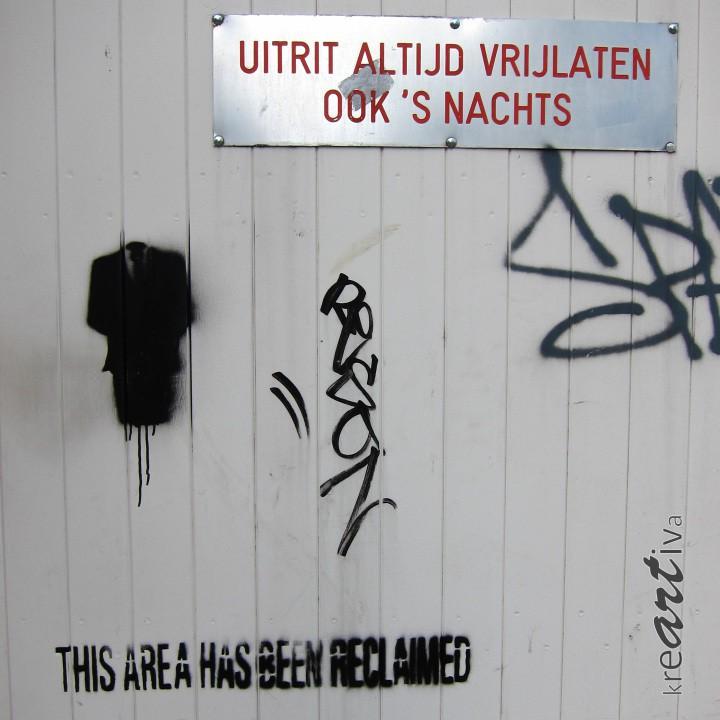 this area has been reclaimed, Groeningen Niederlande 2013.