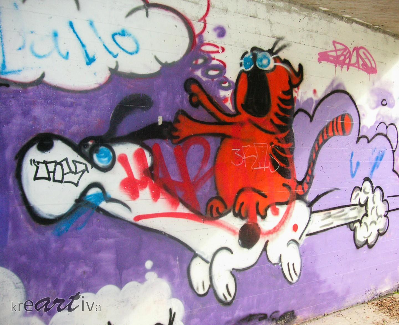 Garfield & Snoopy, Tübingen Deutschland 2006.