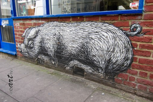 Sleepy Piggy. London UK 2015.