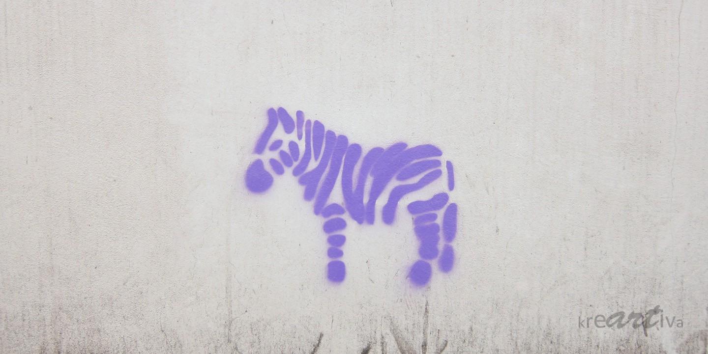 Einsames Zebra – lonely zebra, Erlangen Germany 2014.